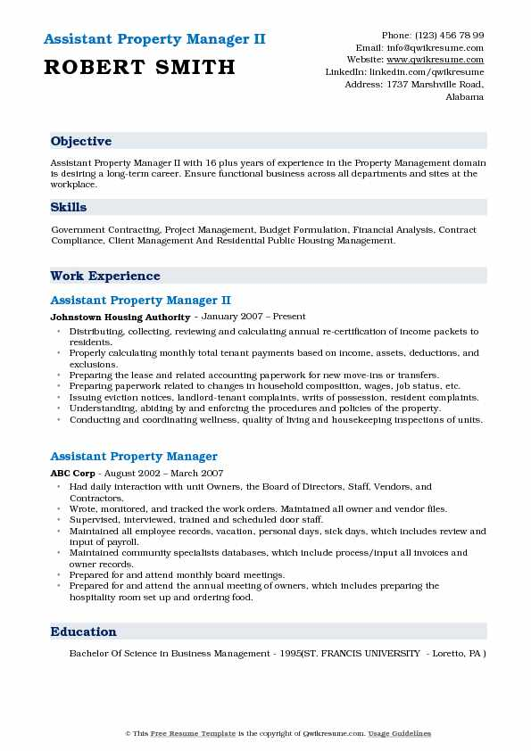 Assistant Property Manager Resume Samples QwikResume - Government Property Administrator Sample Resume