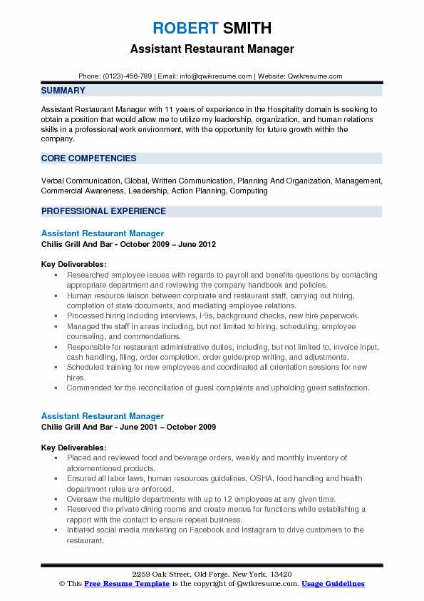 Hospitality Resume Samples, Examples and Tips