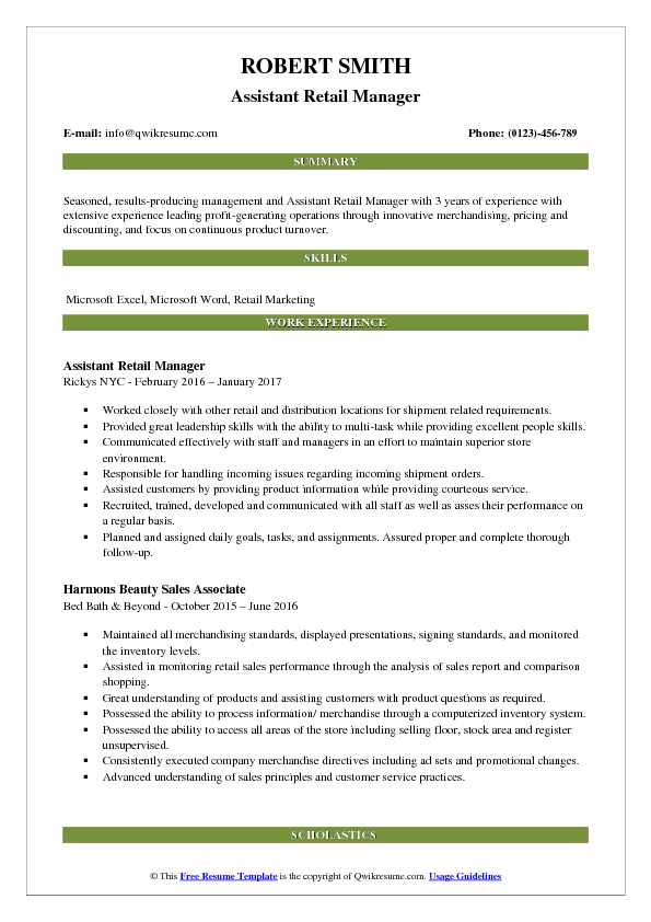 resume summary statement sales manager