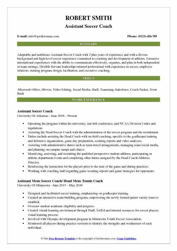 Soccer Resume Samples towelbars