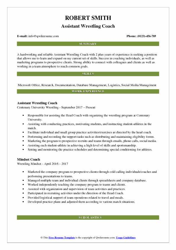 Resume-samples-coach-resumesreading-coach - travelturkey - house - wrestling coach resume