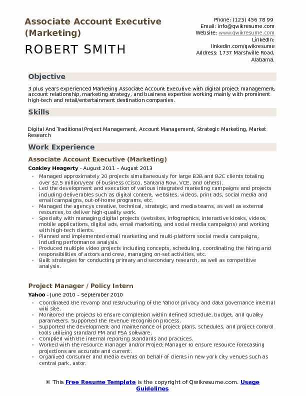 account executive resume objective
