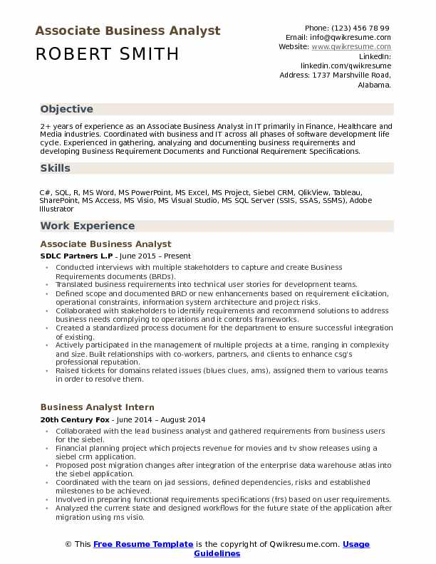 Associate Business Analyst Resume Samples QwikResume - Sharepoint Business Analyst Sample Resume