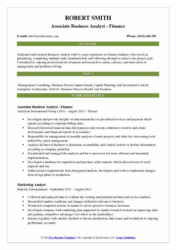 associate analyst resume resume templates billing analyst senior - Associate Analyst Sample Resume