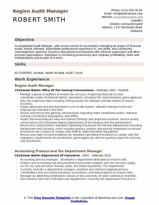 audit associate resume examples