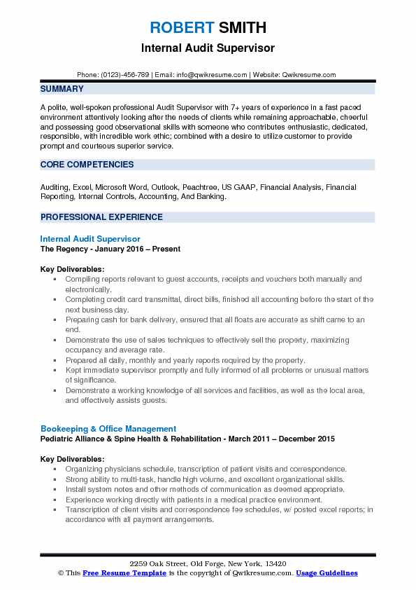 Supervisor Resume Samples, Examples and Tips