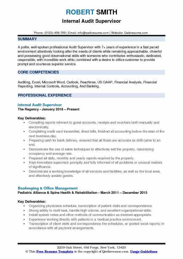 sample resume site supervisor
