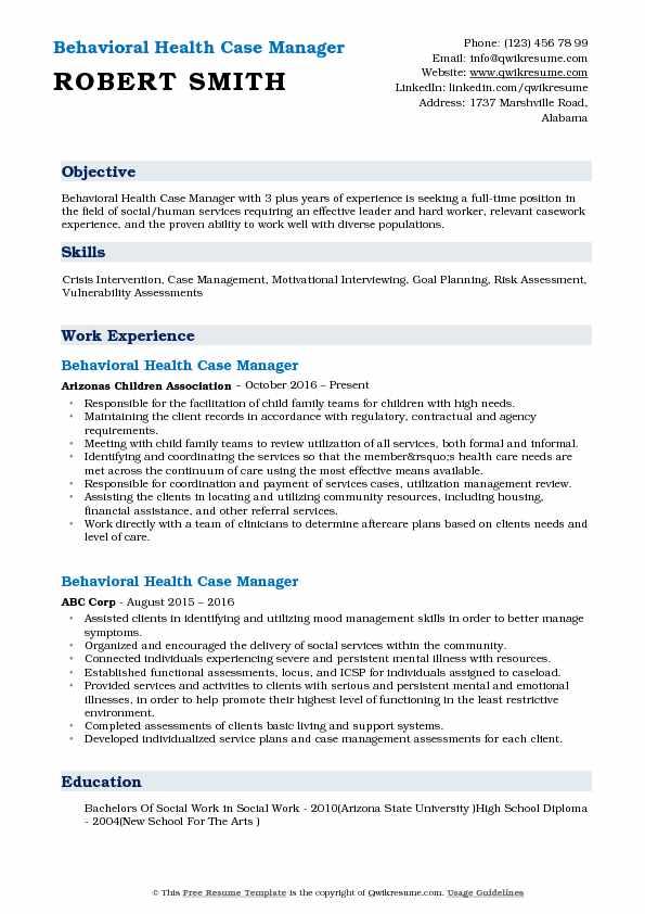 resume hard worker example