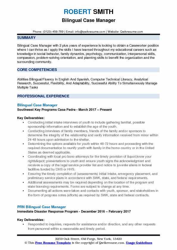 bilingual nursing resume objective examples