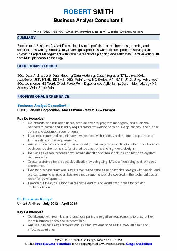 Business Analyst Consultant Resume Samples QwikResume - business analyst skills resume
