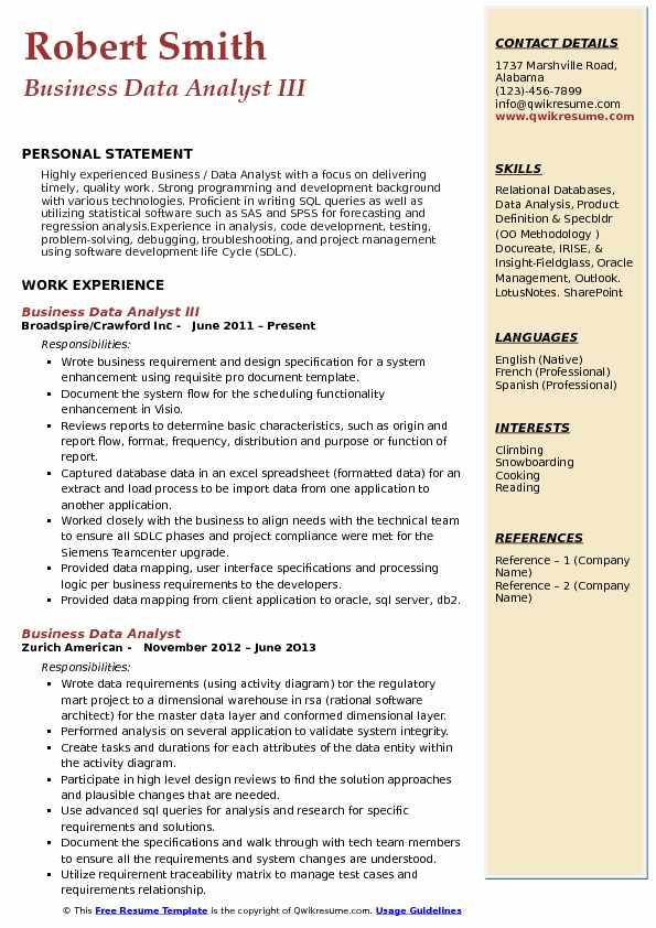sample resume data analyst - Artij-plus