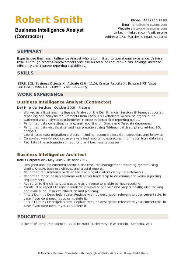 Business Objects Resume Sample. Sample Resume For Sap Business