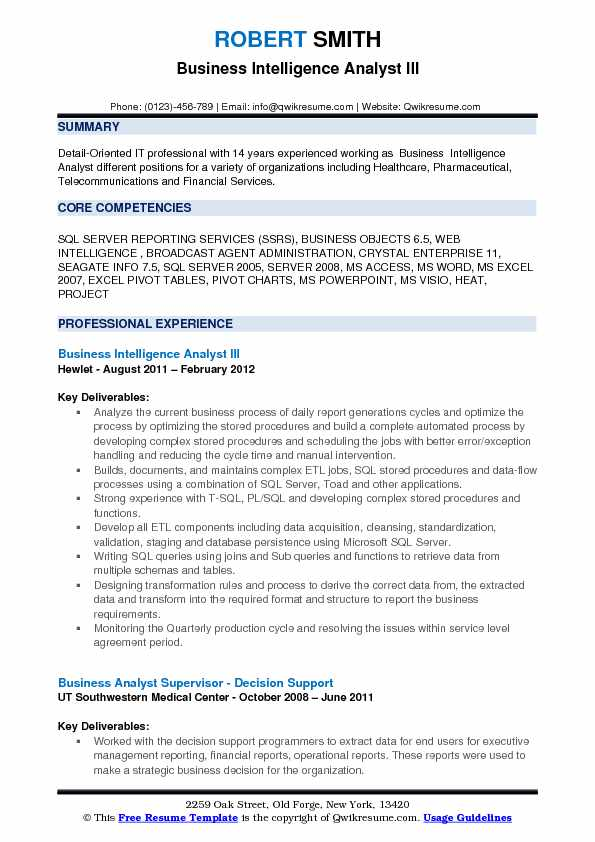 Business Intelligence Analyst Resume Samples QwikResume - telecom analyst sample resume