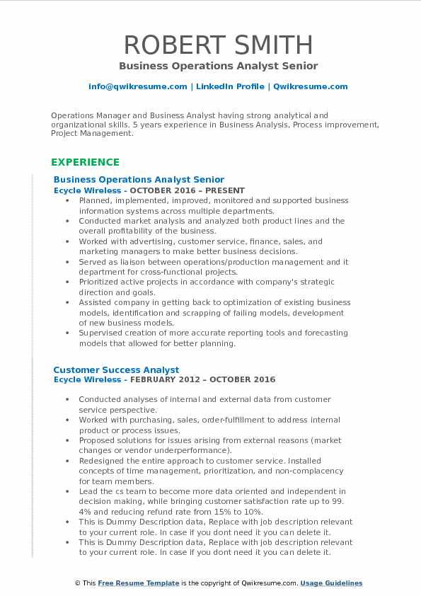 senior manager business intelligence resume sample