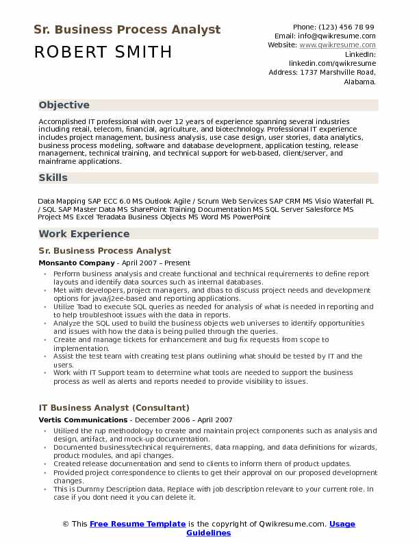Business Process Analyst Resume Samples QwikResume - telecom analyst sample resume