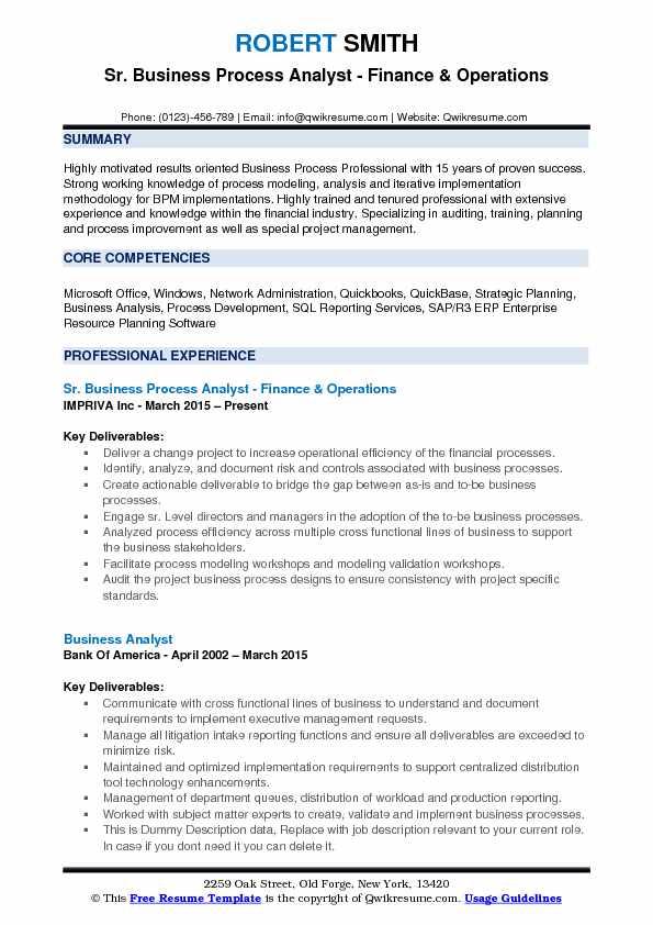 pl sql sample resume for financial sector