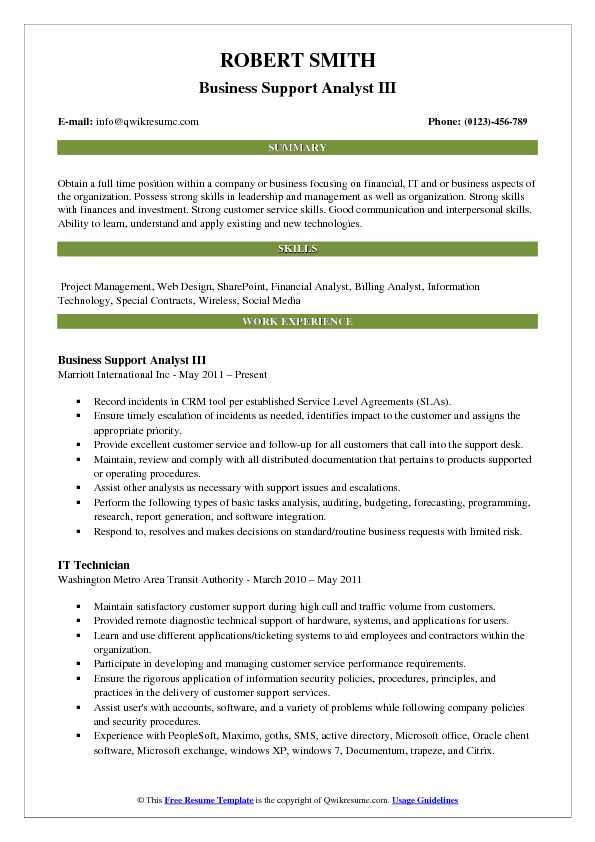 Business Support Analyst Resume Samples QwikResume - Billing Analyst Sample Resume