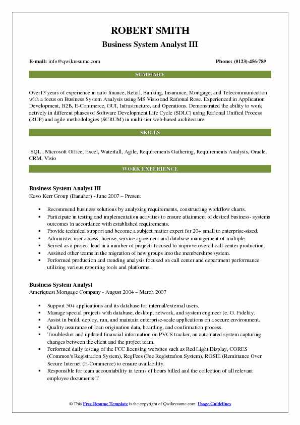 Business System Analyst Resume Samples QwikResume - telecom analyst sample resume