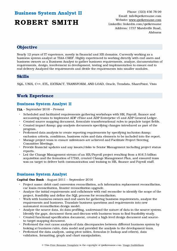 Business System Analyst Resume Samples QwikResume - Sharepoint Business Analyst Sample Resume