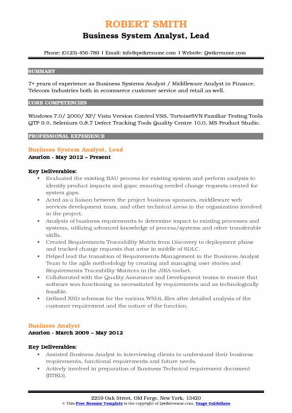 Business System Analyst Resume Samples QwikResume - financial systems analyst sample resume