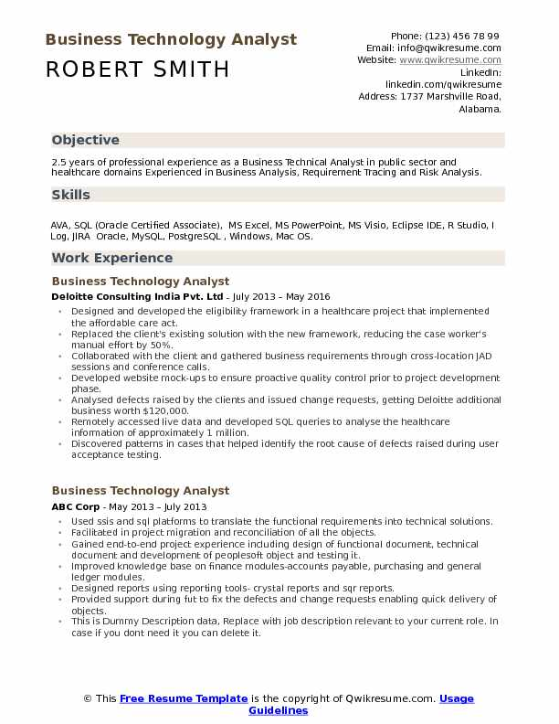 Business Technology Analyst Resume Samples QwikResume - food analyst sample resume