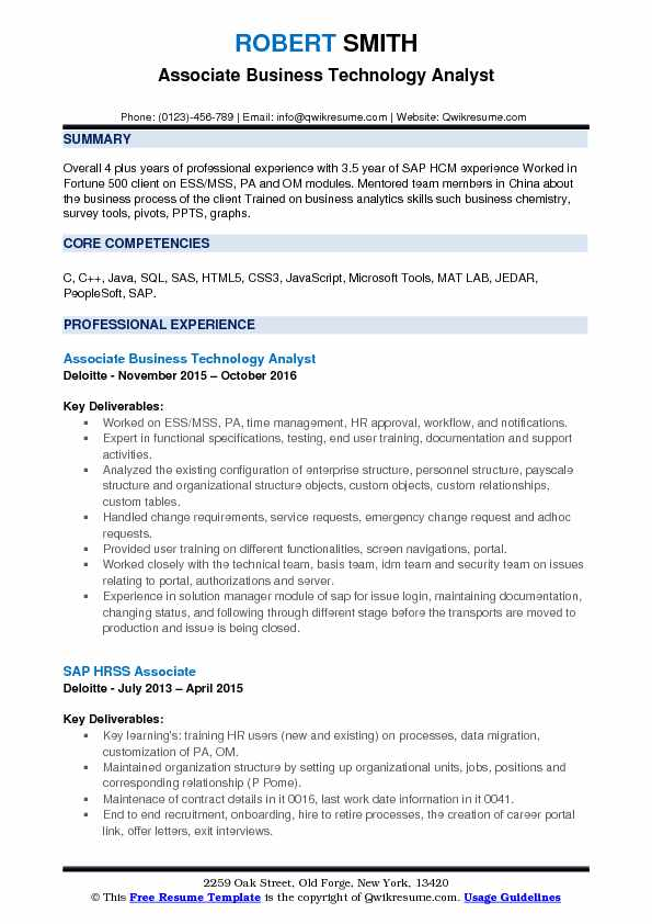 Business Technology Analyst Resume Samples QwikResume - survey analyst sample resume