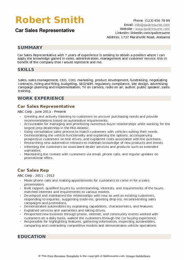 Car Sales Representative Resume Samples QwikResume - car sales representative resume