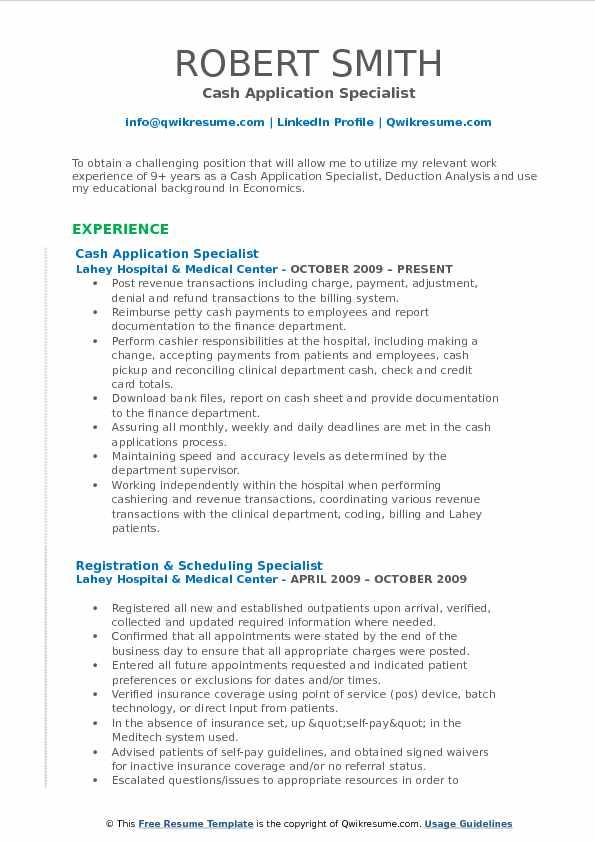 pdf samples of resume