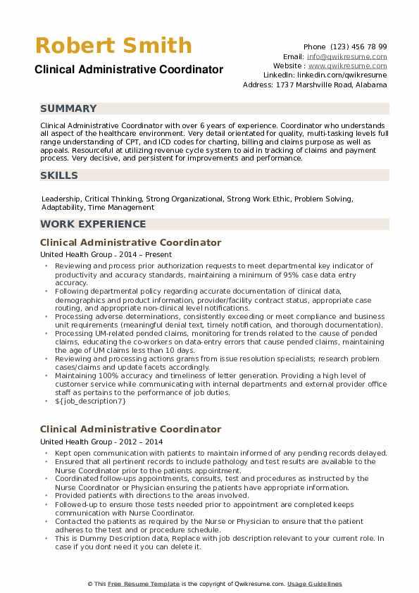 quality resume samples