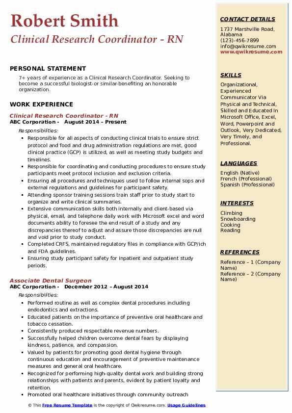 enrollment coordinator resume samples