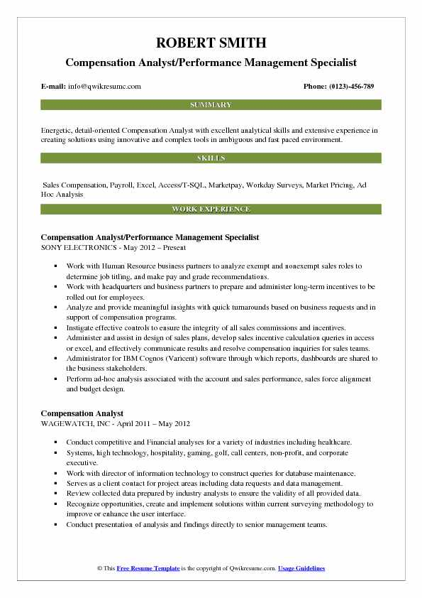 Compensation Analyst Resume Samples QwikResume - survey analyst sample resume