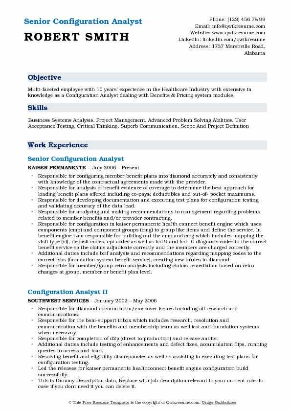 Edi Analyst Sample Resume Professional Edi Analyst Templates To