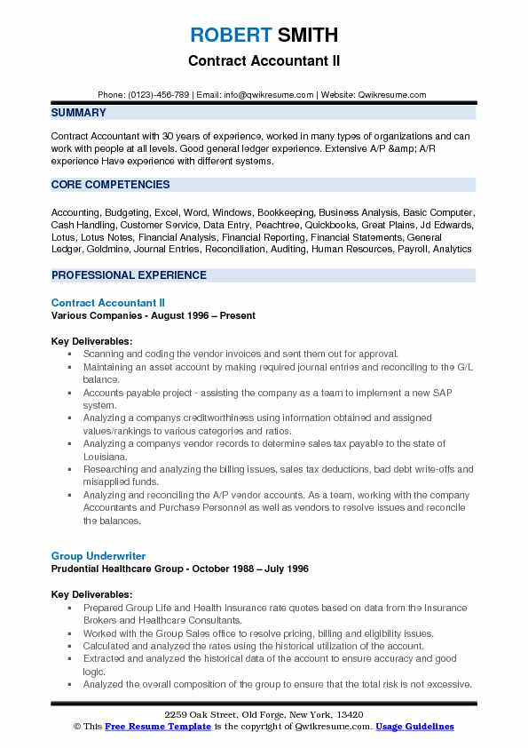 Contract Accountant Resume Samples QwikResume - contract accountant sample resume