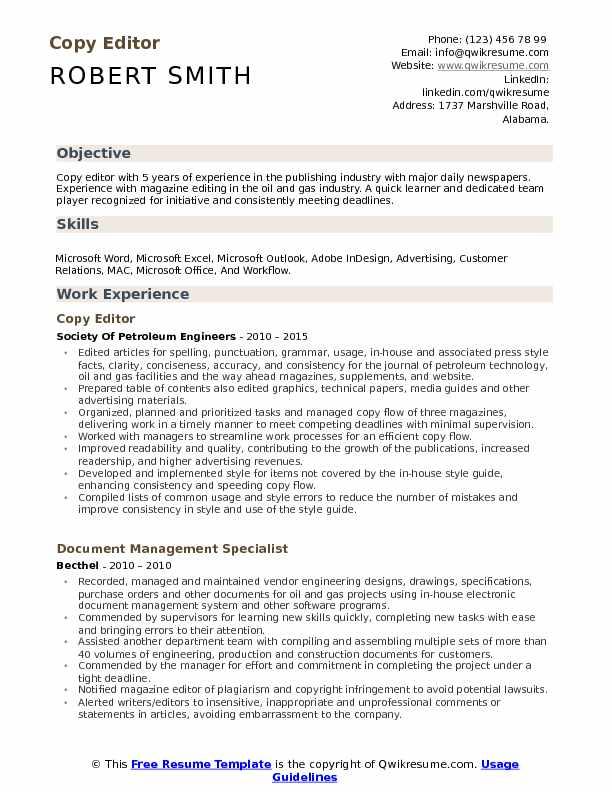 resume editor for mac