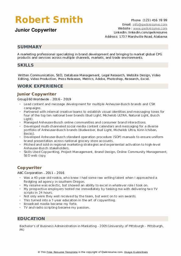 seo sample resume pdf