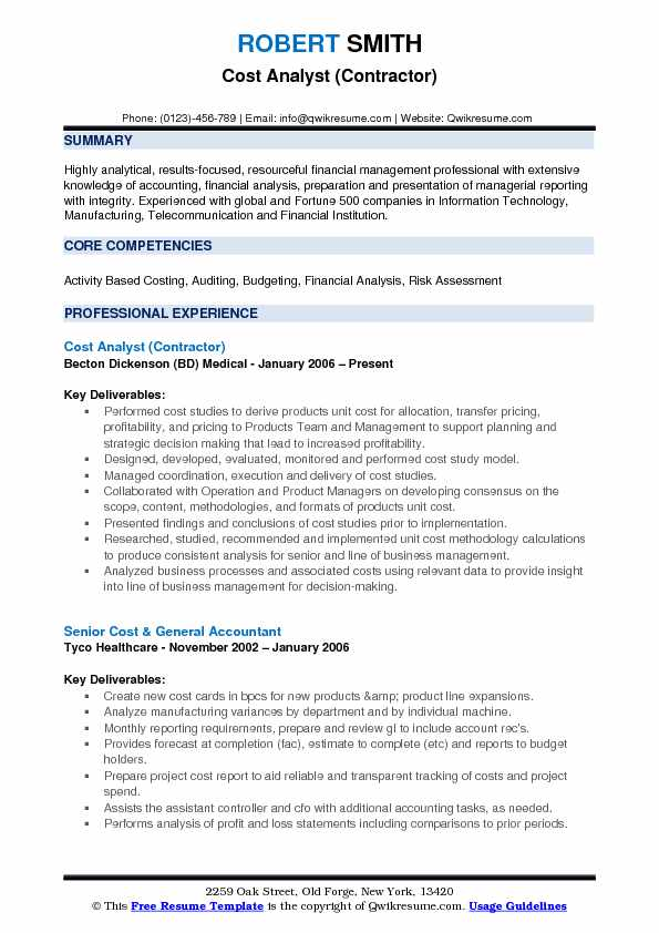 Cost Analyst Resume Samples QwikResume - production analyst sample resume