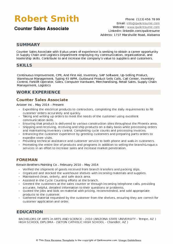 Counter Sales Associate Resume Samples QwikResume - sales associate resume sample