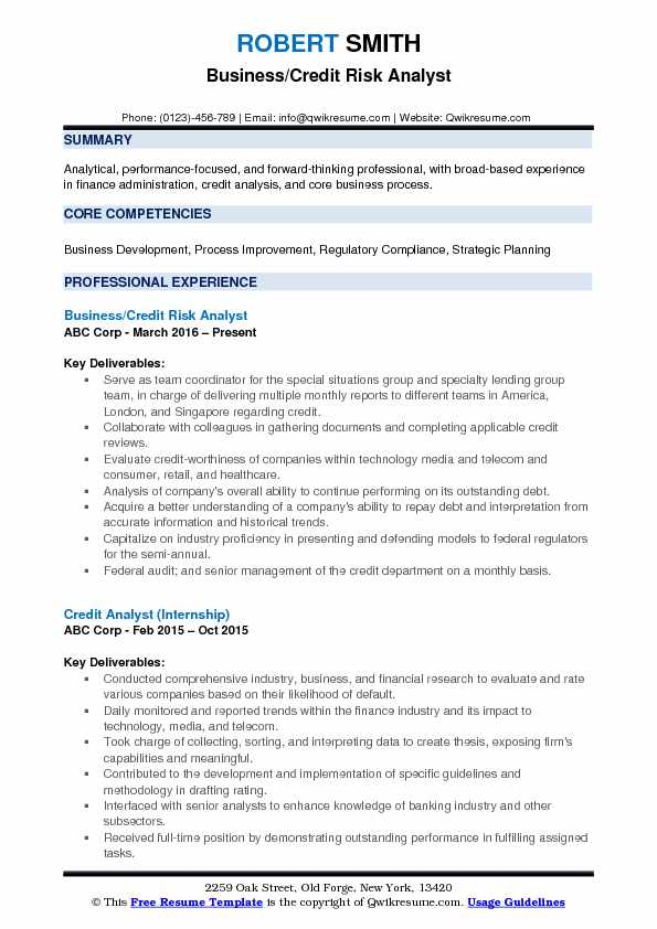 Credit Risk Analyst Resume Samples QwikResume - credit analyst resume