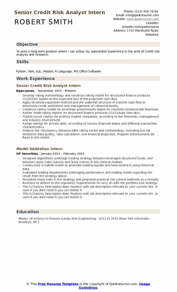 Credit Risk Analyst Resume Samples QwikResume - credit risk analyst sample resume