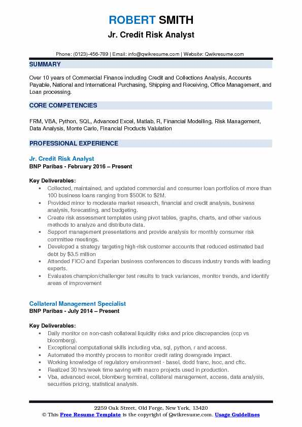 Credit Risk Analyst Resume Samples QwikResume - cdo analyst sample resume