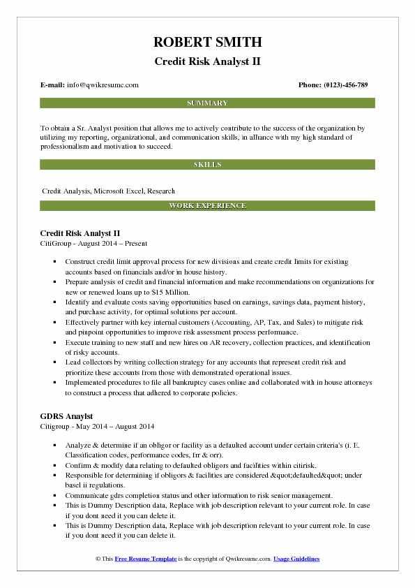 Credit Risk Analyst Resume Samples QwikResume - operational risk analyst sample resume