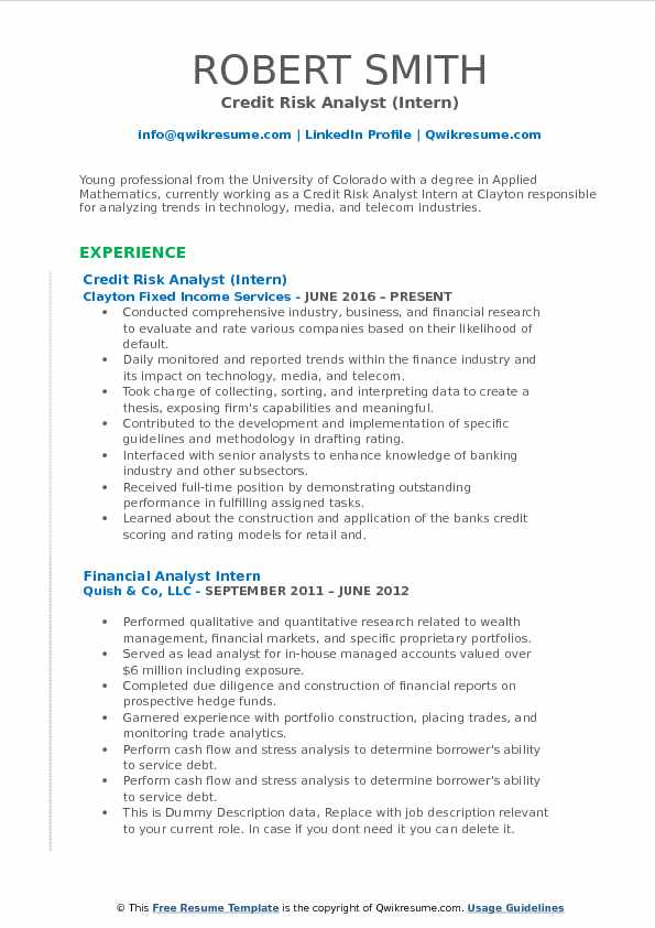 Credit Risk Analyst Resume Samples QwikResume - telecom analyst sample resume