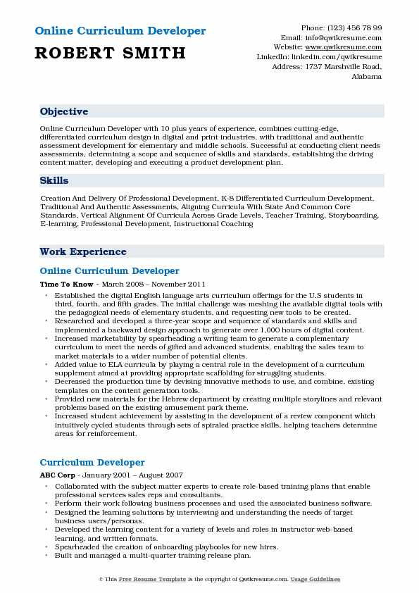 resume examples for team lead