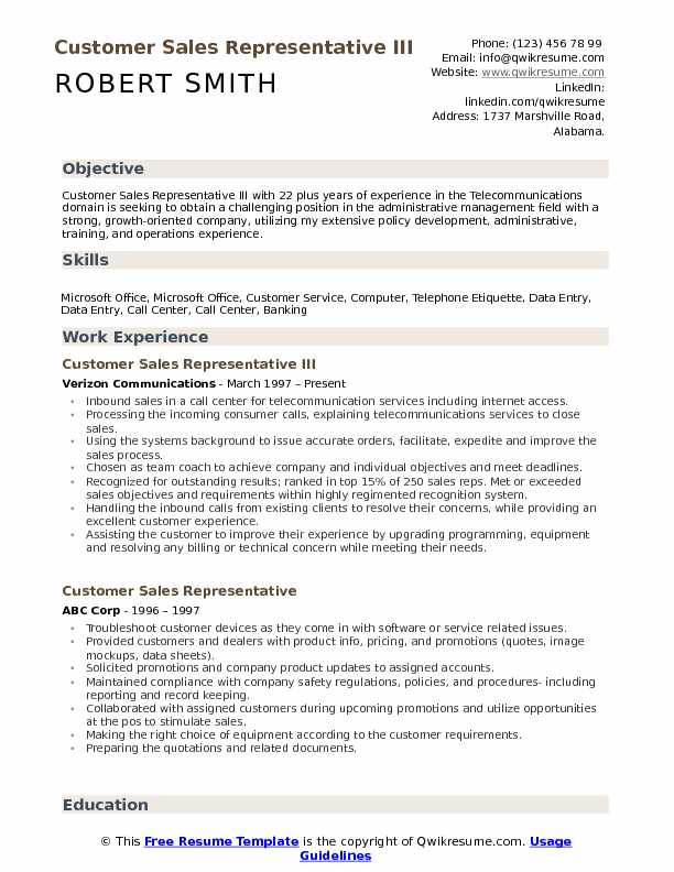 Customer Sales Representative Resume Samples QwikResume - call center floor manager sample resume