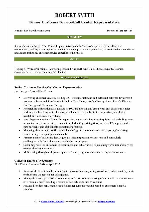Customer Service Call Center Representative Resume Samples QwikResume - call center representative resume
