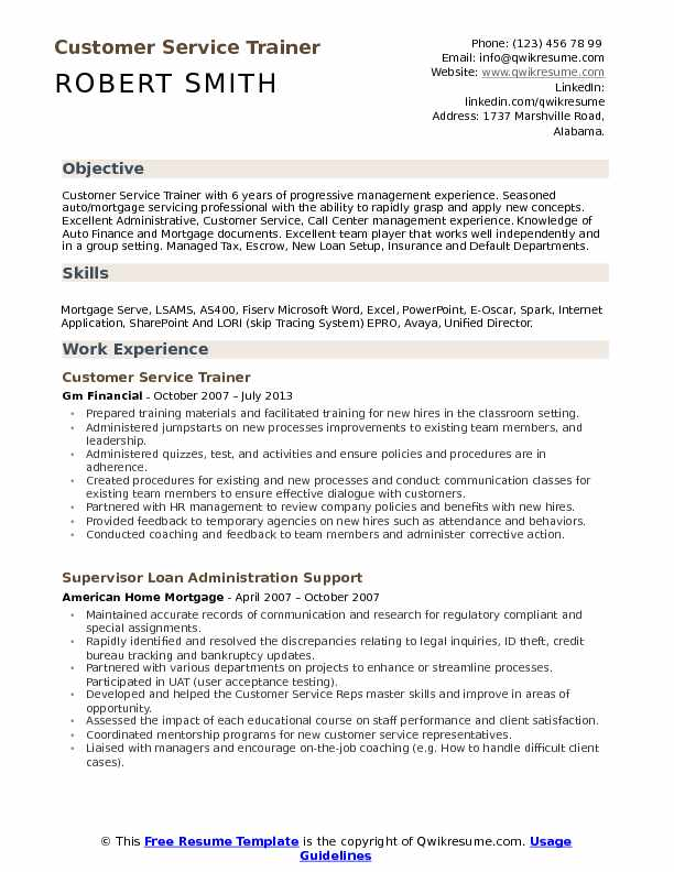 mortgage trainer sample resume comprandofacilco