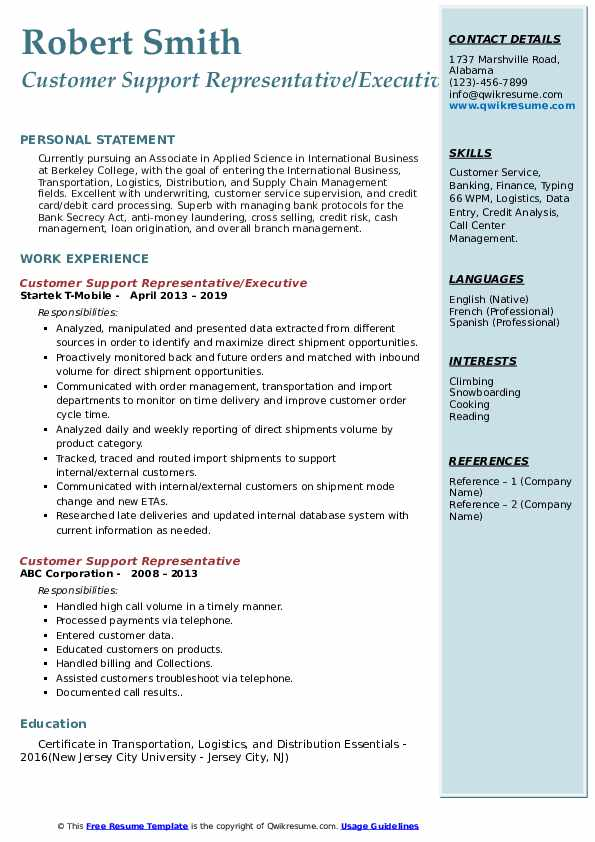 resume headline for logistics executive