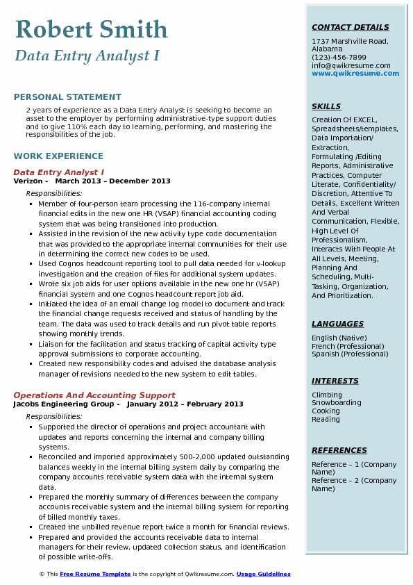 Data Entry Analyst Resume Samples QwikResume - data entry analyst sample resume