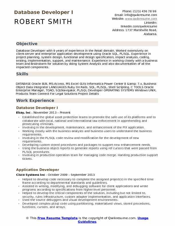 Database Developer Resume Samples QwikResume - ruby on rails developer resume