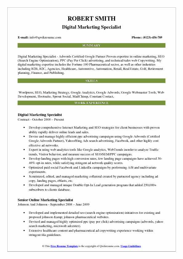 Marketing Resume Samples, Examples and Tips